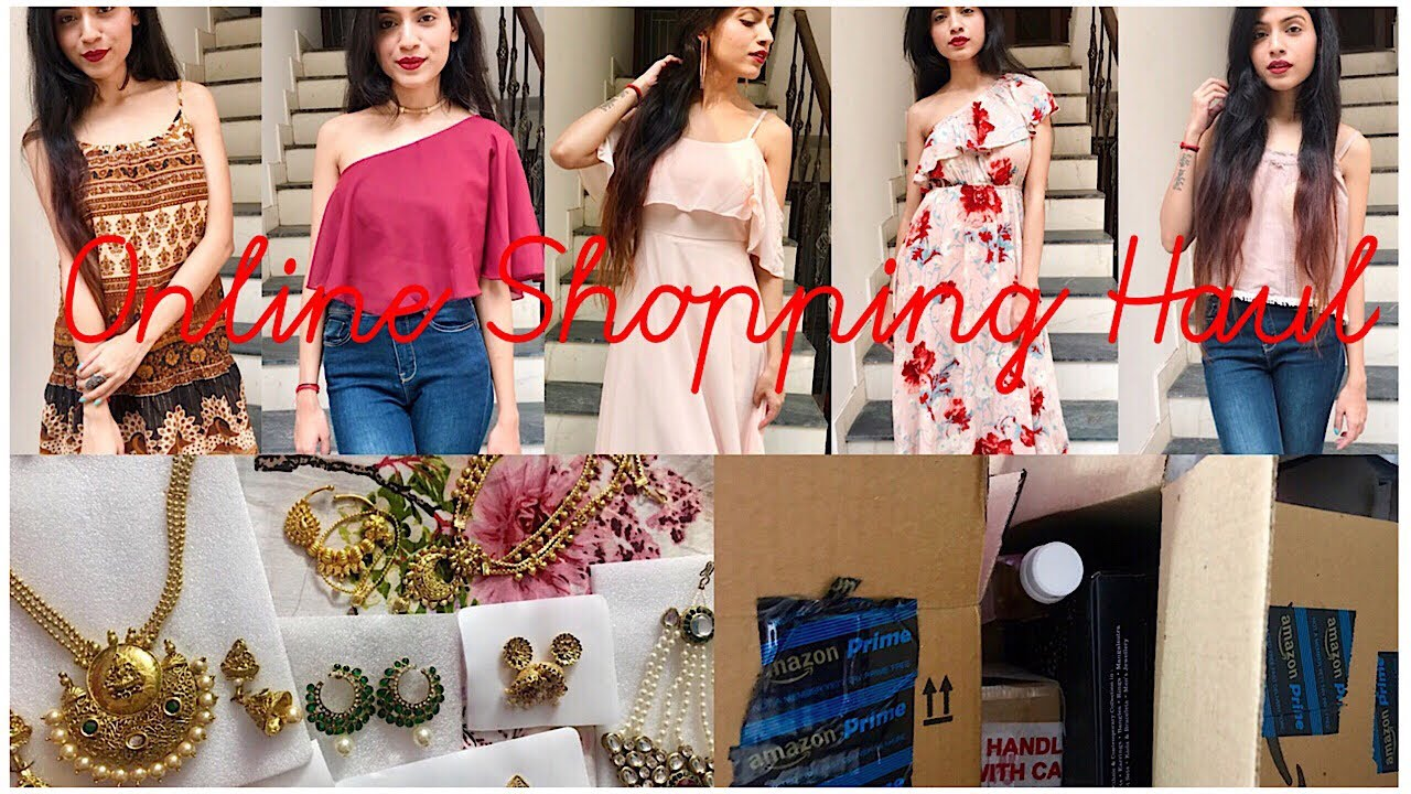 ecea0228eb ONLINE SHOPPING TRY ON HAUL | SHOPPING HAUL INDIA | SHEIN, FOREVER21, ONLY,  SBL, ZAVERI PEARLS