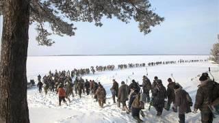 Песня о зимней рыбалке  ''А в лунке тёмная вода...''