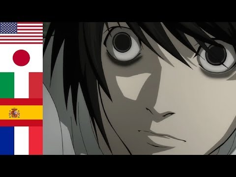 """Death Note ● """"I am L"""" in 13 languages"""
