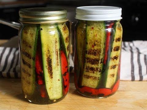 Pickled Grilled Pickles - Pickled Grilled Vegetables