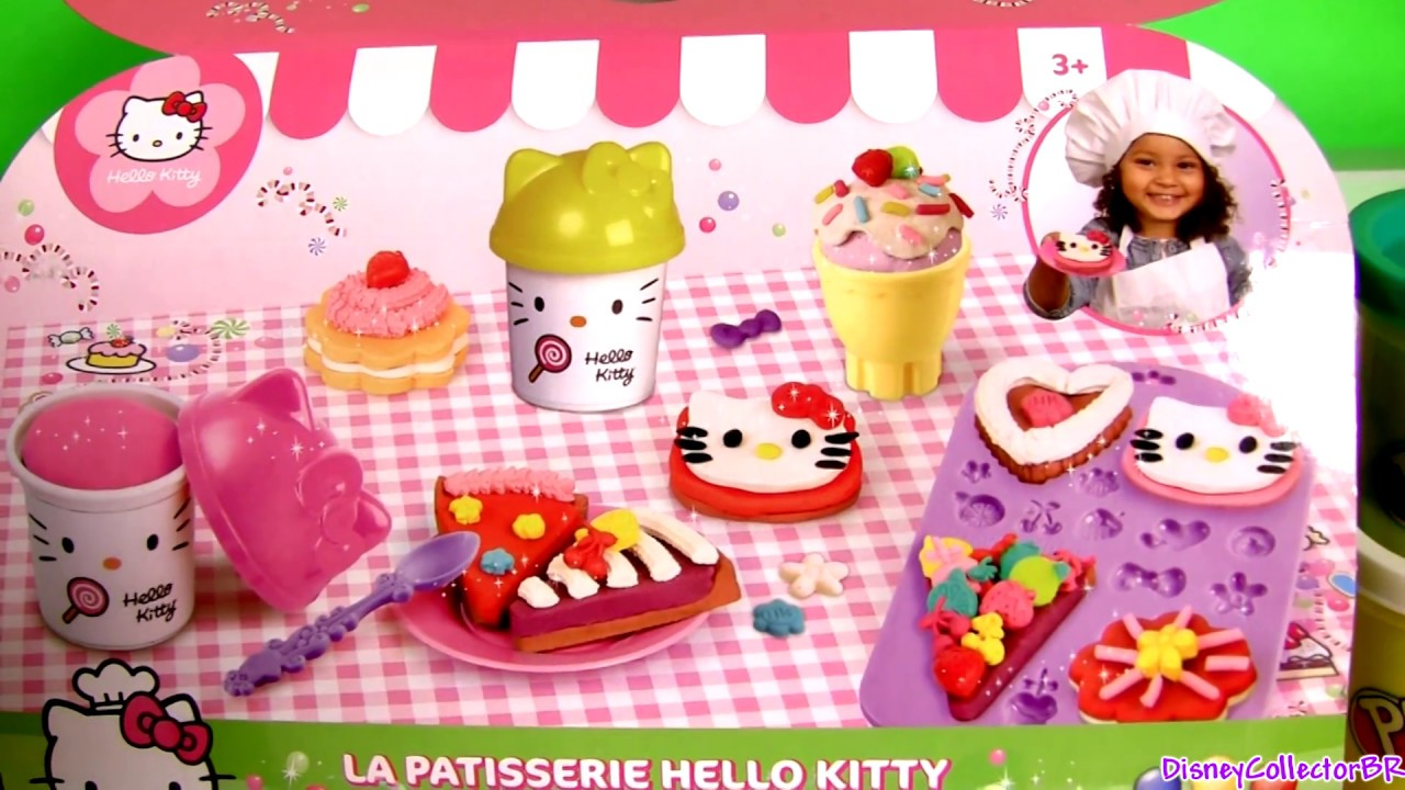 Play Doh Hello Kitty Pastry Shop Donuts And Cupcakes Youtube