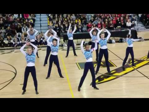 Clarksburg High School Poms Competition, February 4th, 2017