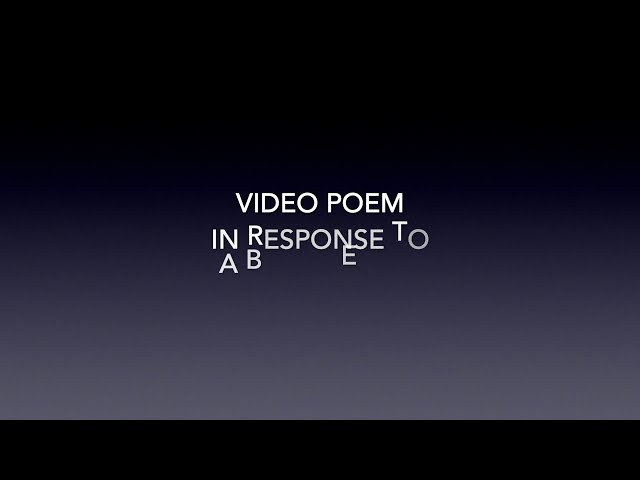VIDEO POEM IN RESPONSE TO A BLANK EMAIL
