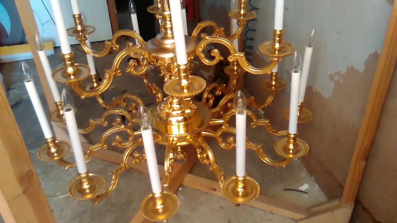 Comment Nettoyer Du Vieux Cuivre magnifique restauration d'un lustre italien en bronze / laiton des annÉes  vingt
