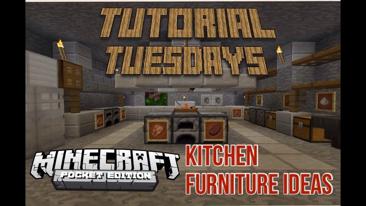 Tutorial Tuesdays Mcpe Kitchen Ideas Youtube
