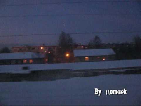 Прибыте в вечерний Петрозаводск