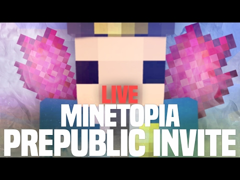 WIN EEN INVITE!! MINETOPIA PRE-PUBLIC LIVE!