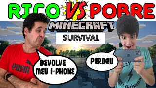 RICO vs POBRE MINECRAFT SURVIVAL no IPHONE 12 | PEDRO MAIA