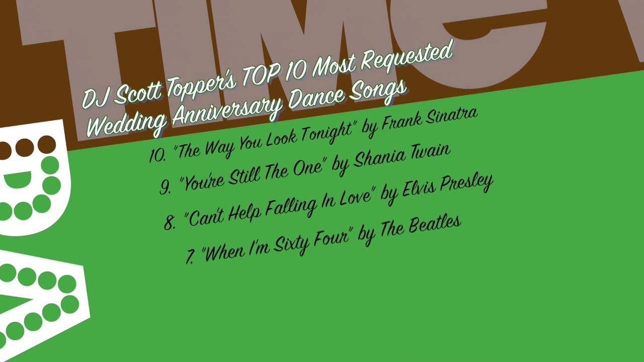 Top 10 Most Requested Wedding Anniversary Dance Songs With DJ Scott Topper