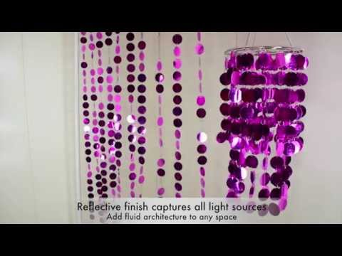 Spangles PVC Fuchsia Pink Beaded Curtain - ShopWildThings