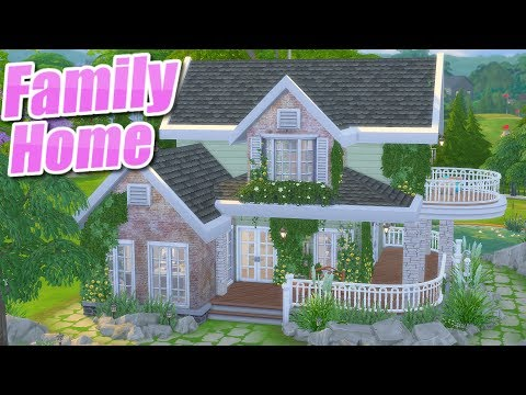 The Sims 4: Parenthood | MESSY FAMILY COUNTRY HOME | Speed Build (No CC)
