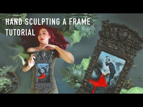 Sculpting a Frame for my Painting | Resin Sculpture Tutorial