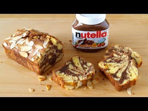 How to Make Nutella Swirl Cream Cheese Pound Cake (Marble Chocolate Cake Recipe) ヌテラマーブル パウンドケーキ