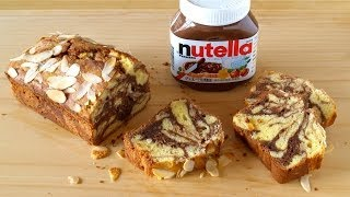 How To Make Nutella Swirl Cream Cheese Pound Cake (marble Chocolate Cake Recipe) ヌテラマーブル パウンドケーキ