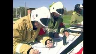 пожарные учения в лесу