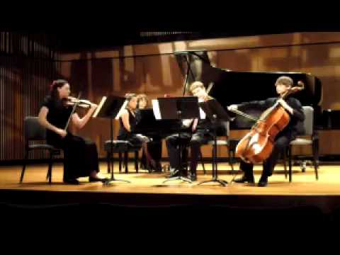 Mozart Piano Quartet in G minor, 1st mvmt, Blair School of Music