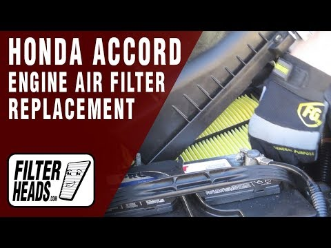 how to change air filter honda accord