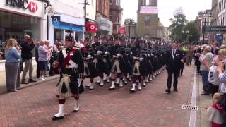 5th Scots Marching Thru Falkirk 13.6.2013