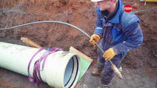 How to install GRP pipes correctly in open trench installations