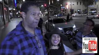 Denzel Washington has dinner at Katsuya Restaurant in Hollywood