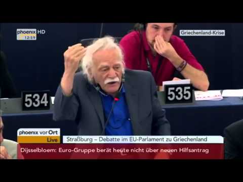 EU-Griechenlandkrise: Manolis Glezos (92) Gänsehaut-Rede::Und Toilettenpapier wichtiger als der Euro