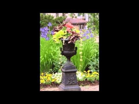 How to create a garden fountain from cast iron or aluminum planter