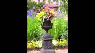 How to create a garden fountain from cast iron planter