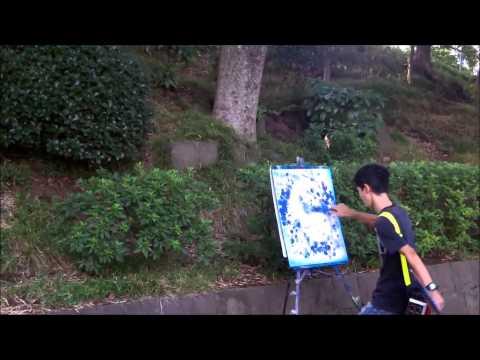 Künstler im Ueno-Park in Tokyo - Artists in Ueno Park in Tokyo