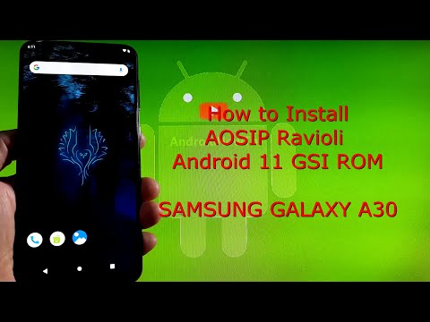 AOSIP Ravioli for Samsung Galaxy A30 Android 11 GSI ROM