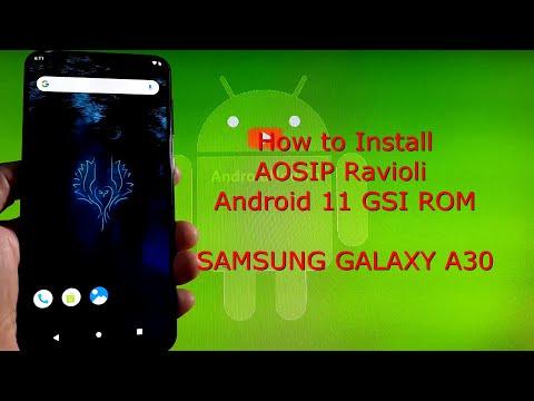 Samsung Galaxy A30: AOSIP Ravioli Android 11 GSI ROM