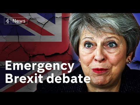 Emergency Brexit debate LIVE
