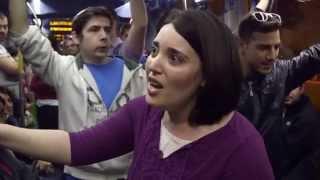 Флешмоб в поезде ( гимн Израиля)