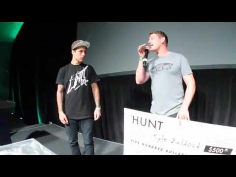 Kyle Baldock Best Trick Award at The Hunt BMX Premiere