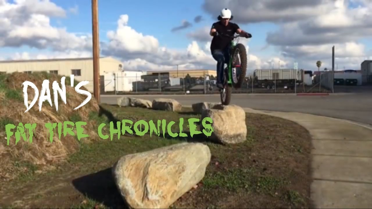 Freeride And Trials Riding On A 9zero7 Fat Bike Youtube