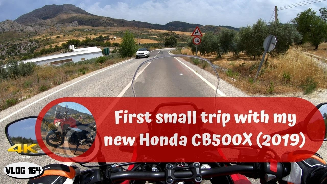 Honda CB500X (2019) - First small trip  - VLOG164 [4K]