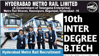 Hyderabad Metro Rail Recruitment 2019 | Metro  Station Jobs In Hyderabad | Execuitive Jobs In Metro