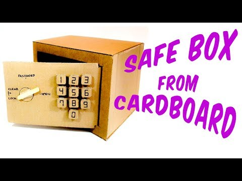 How to make a safe with a numeric lock from Cardboard