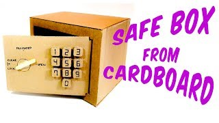How to make a safe with a numeric lock from Cardboard thumbnail