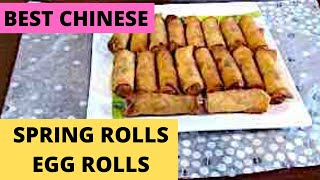 Best Chinese Spring Rolls/Egg Rolls #CookWithNancy