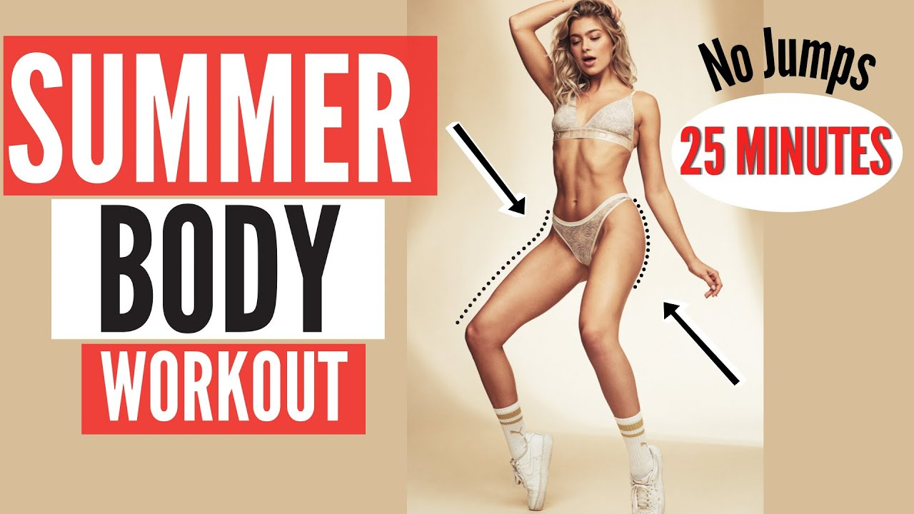 25 MIN. SUMMERBODY WORKOUT - NO JUMPS, burn COVID - 19 kilos & build muscles | Mary Braun