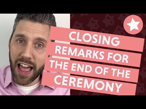 Officiant Closing Remarks For The Wedding Ceremony (3 Announcements To Make!)