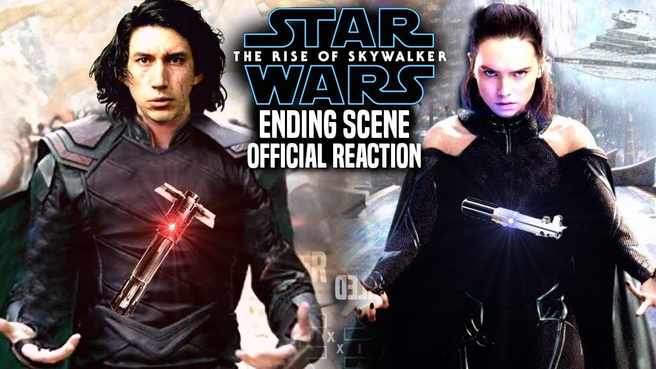 The Rise Of Skywalker Ending Official Reaction Revealed Star Wars Episode 9 Youtube