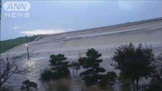台風19号被害 宮城・大崎市の吉田川が氾濫する瞬間(19/10/22)