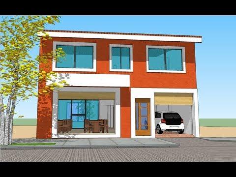 Plano de casa y local comercial terreno 10x20 metros - Terreno con casa ...