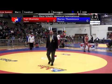 Schultz Greco 66kg Quarterfinal Yuji Okamoto (JPN)...