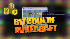Make BITCOIN in MINECRAFT