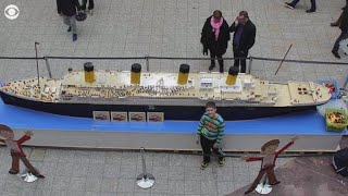 Autistic boy builds largest Lego replica of the Titanic