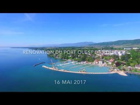 Renovation Du Port Ouest De Rolle, Suisse 16 MAI 2017 PART 2