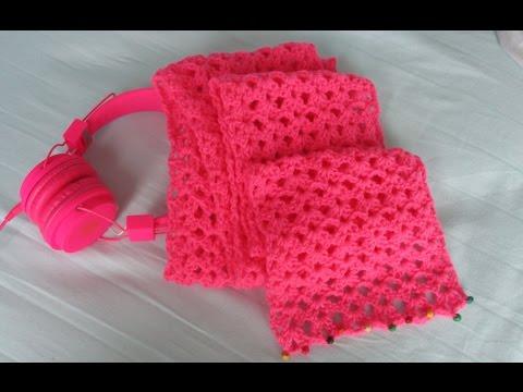 ผ้าพันคอโครเชต์ Pink