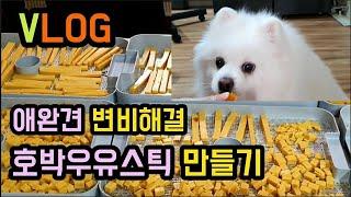 ( vlog )고소하고 맛있는 애완견간식 쉽게 만드는법…